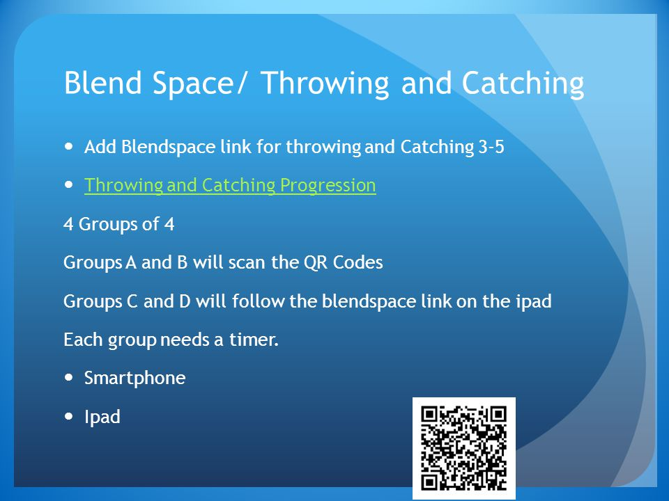 Blend Space/ Throwing and Catching