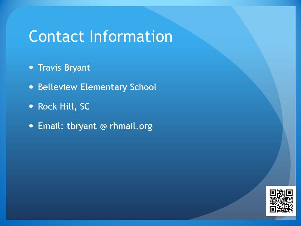 Contact Information Travis Bryant. Belleview Elementary School.