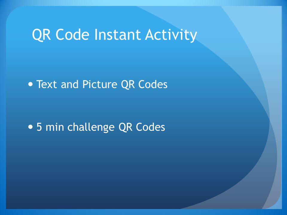 QR Code Instant Activity