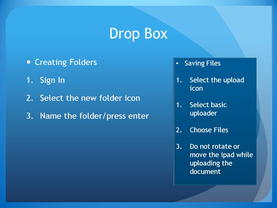 Drop Box Creating Folders Sign In Select the new folder icon