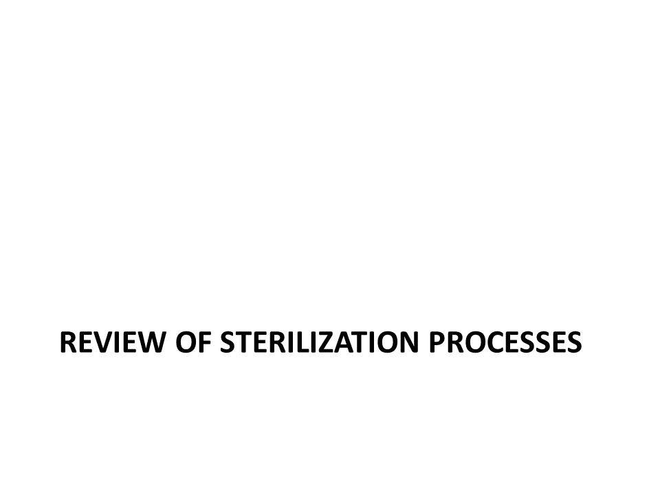 Review of Sterilization Processes