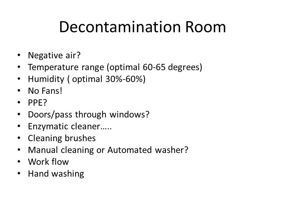 Decontamination Room Negative air