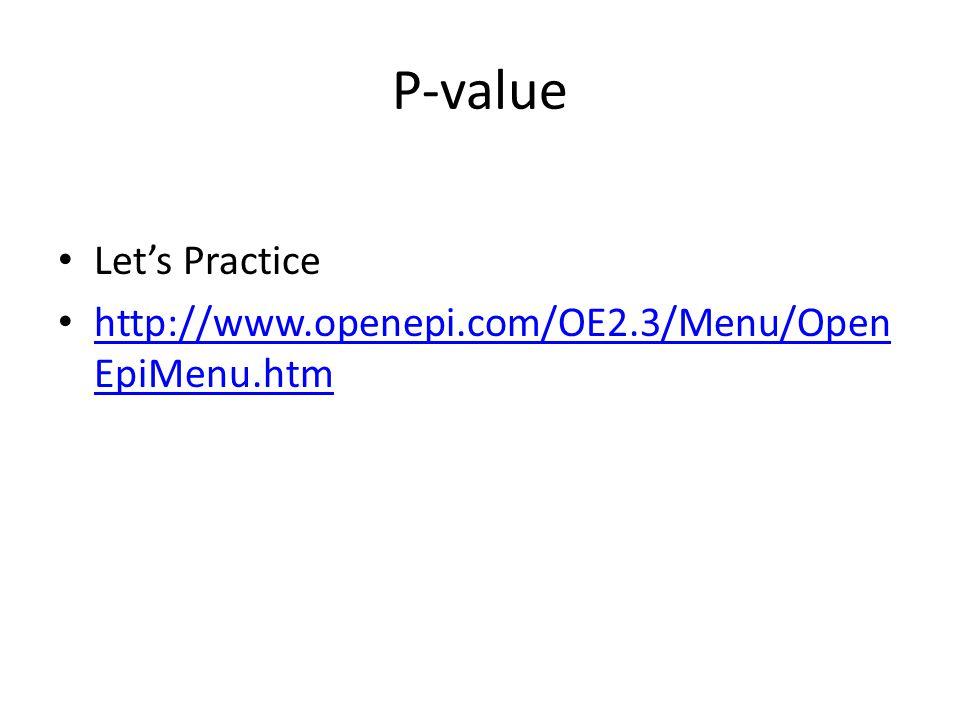 P-value Let's Practice