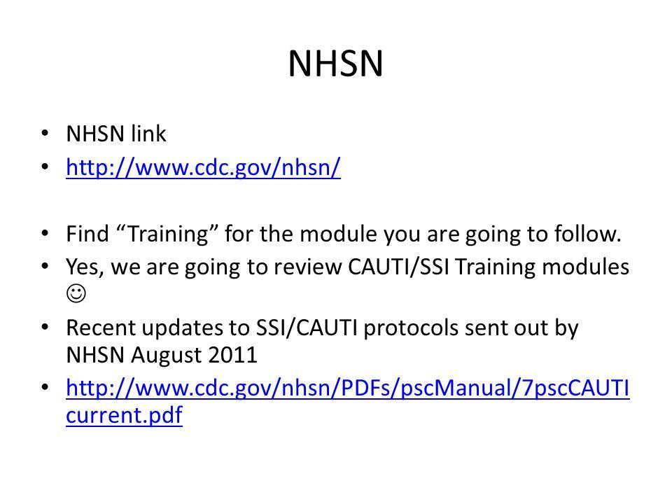 NHSN NHSN link http://www.cdc.gov/nhsn/
