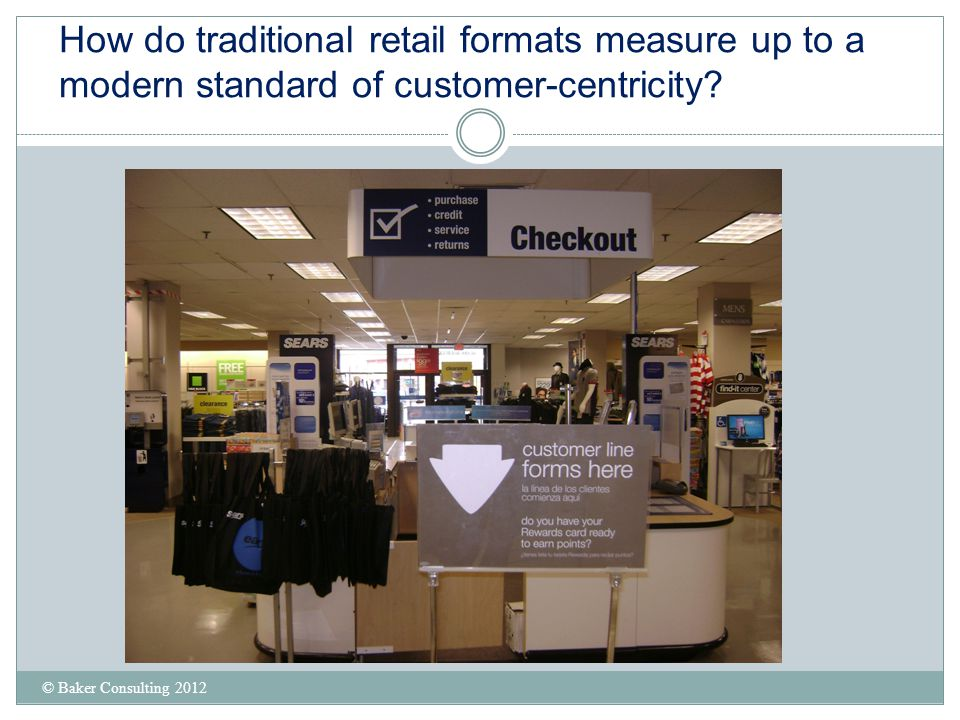 How do traditional retail formats measure up to a modern standard of customer-centricity