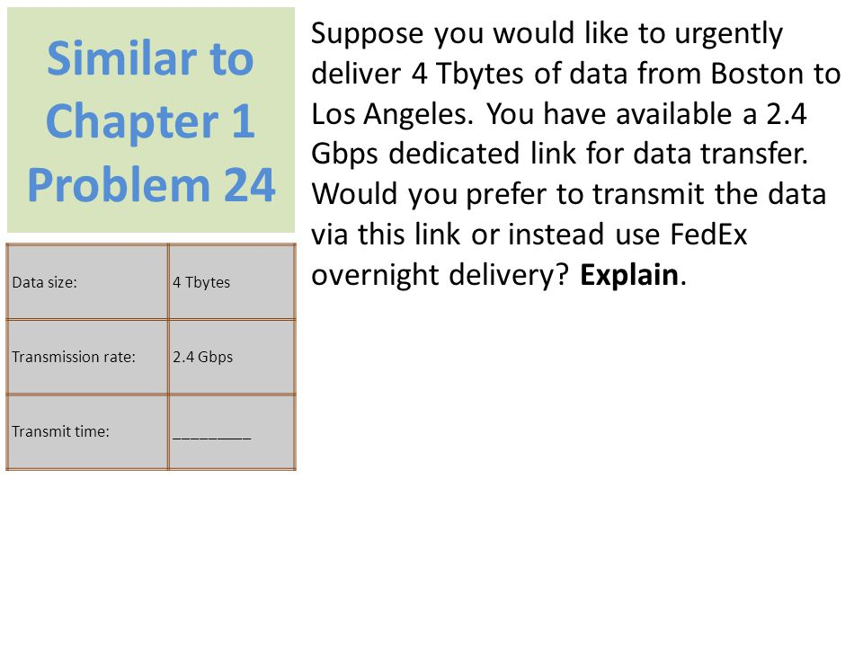 Similar to Chapter 1 Problem 24