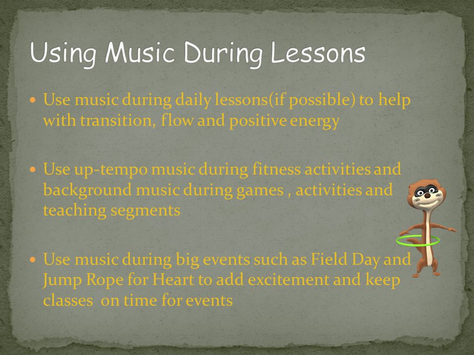 Using Music During Lessons