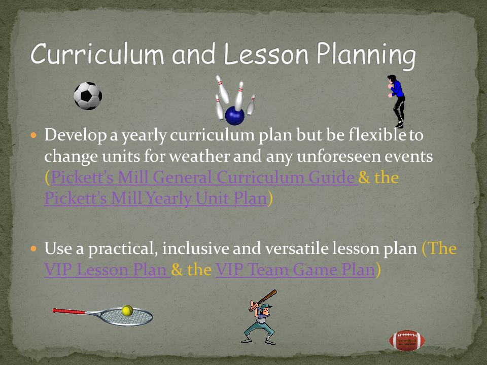 Curriculum and Lesson Planning