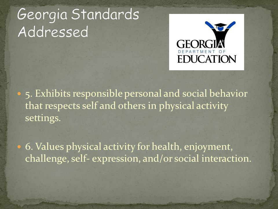 Georgia Standards Addressed