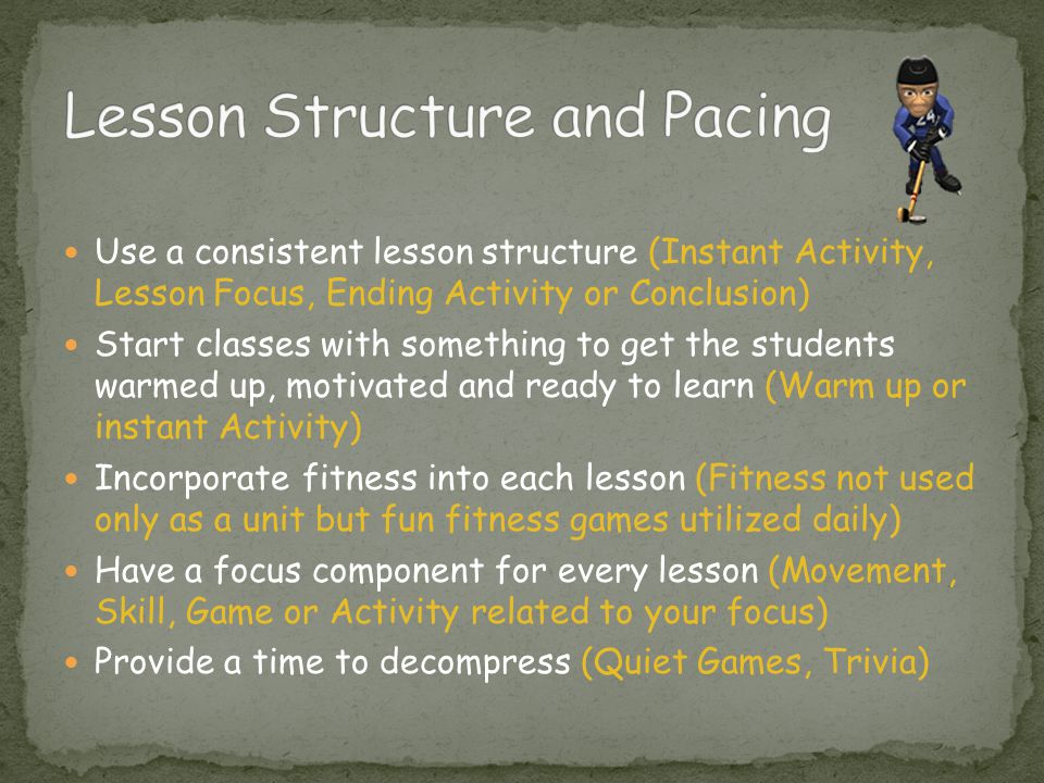 Lesson Structure and Pacing