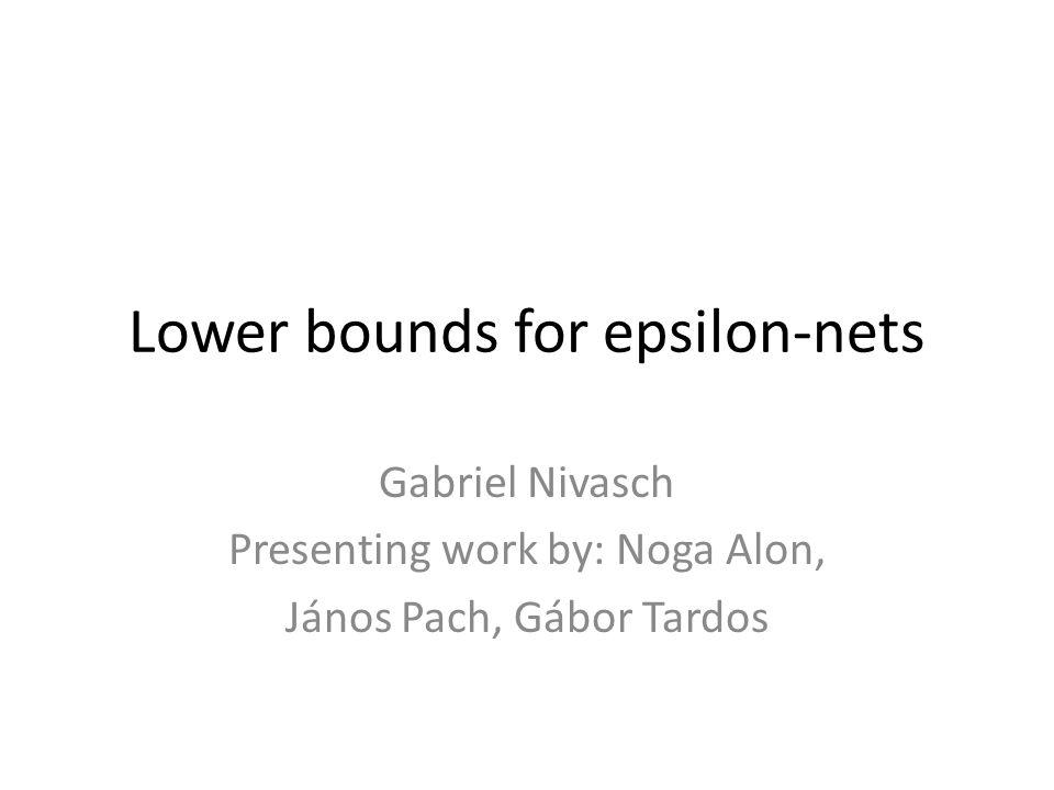 Lower bounds for epsilon-nets