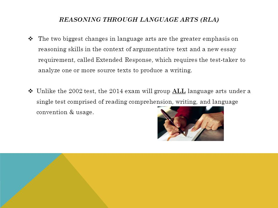 Reasoning through language arts (rla)
