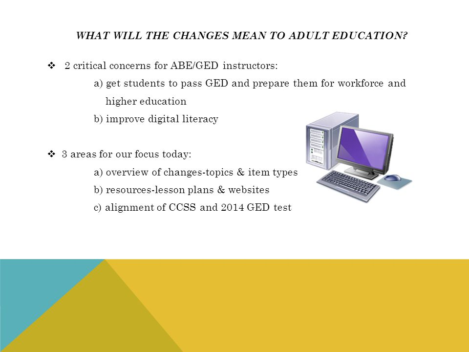 what will the changes mean to adult education