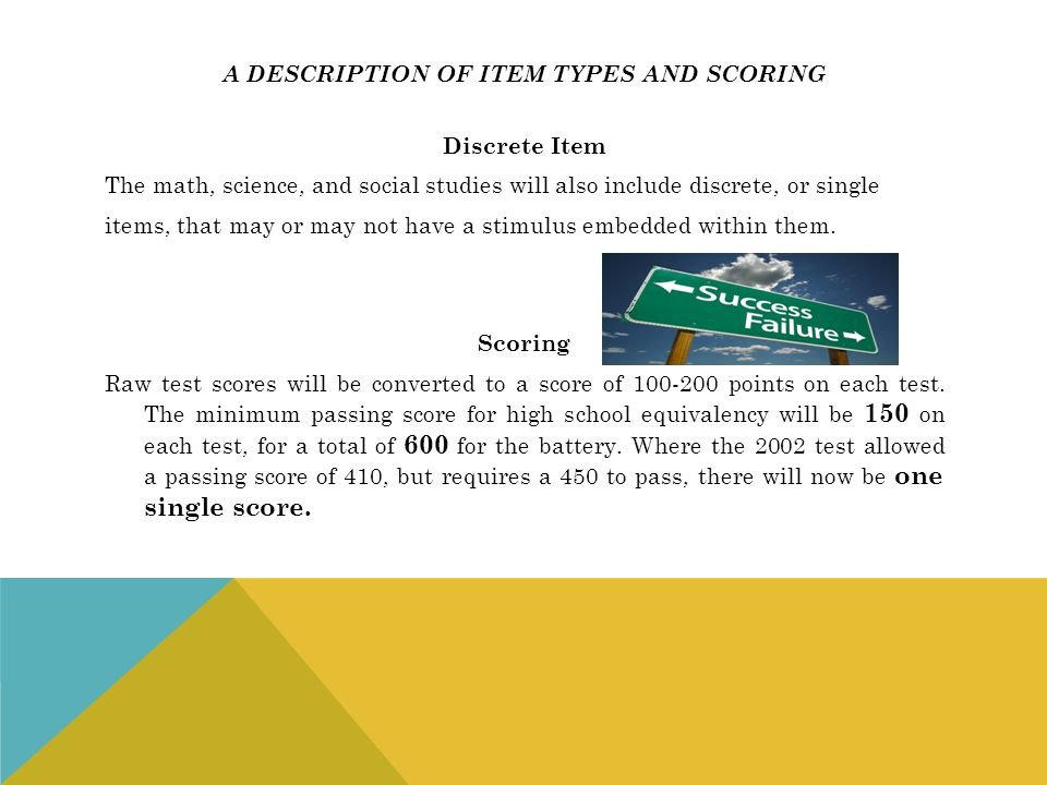 A description of item types and scoring