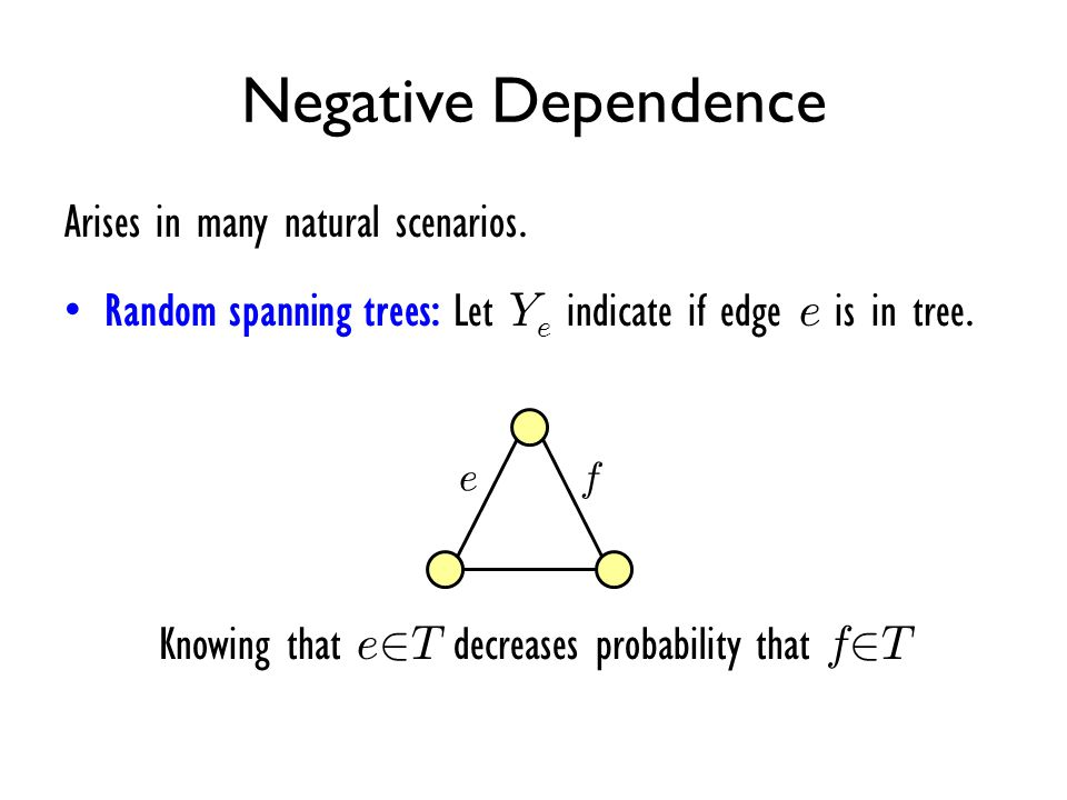 Knowing that e2T decreases probability that f2T
