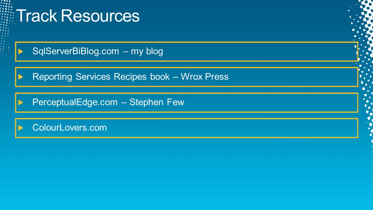 Track Resources SqlServerBiBlog.com – my blog