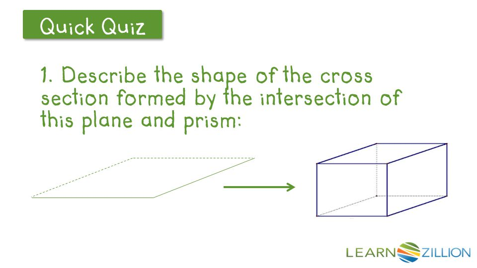 Answer: A rectangle parallel to the top and bottom faces.