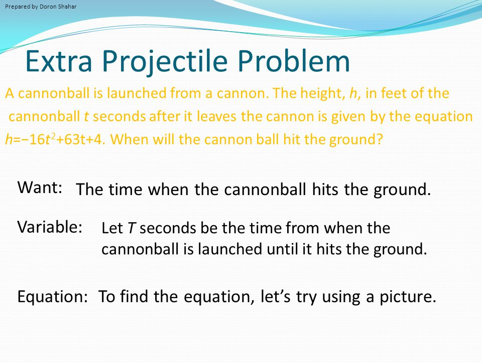 Extra Projectile Problem