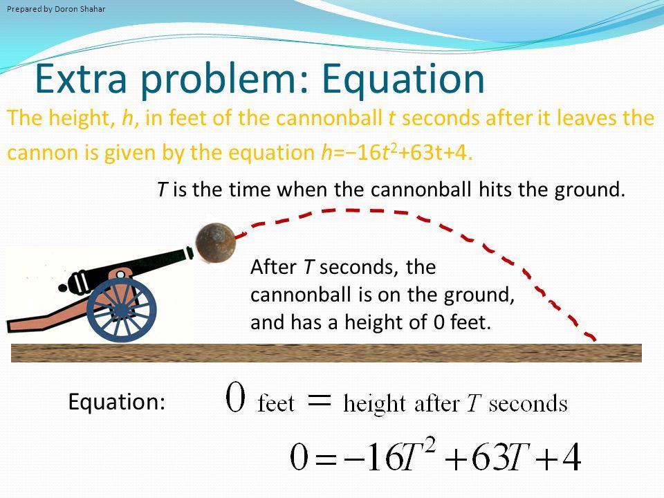 Extra problem: Equation