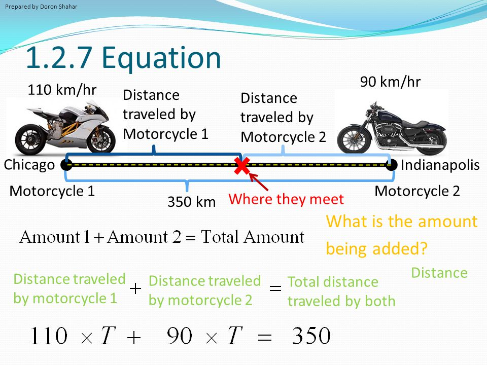 1.2.7 Equation What is the amount being added 90 km/hr 110 km/hr