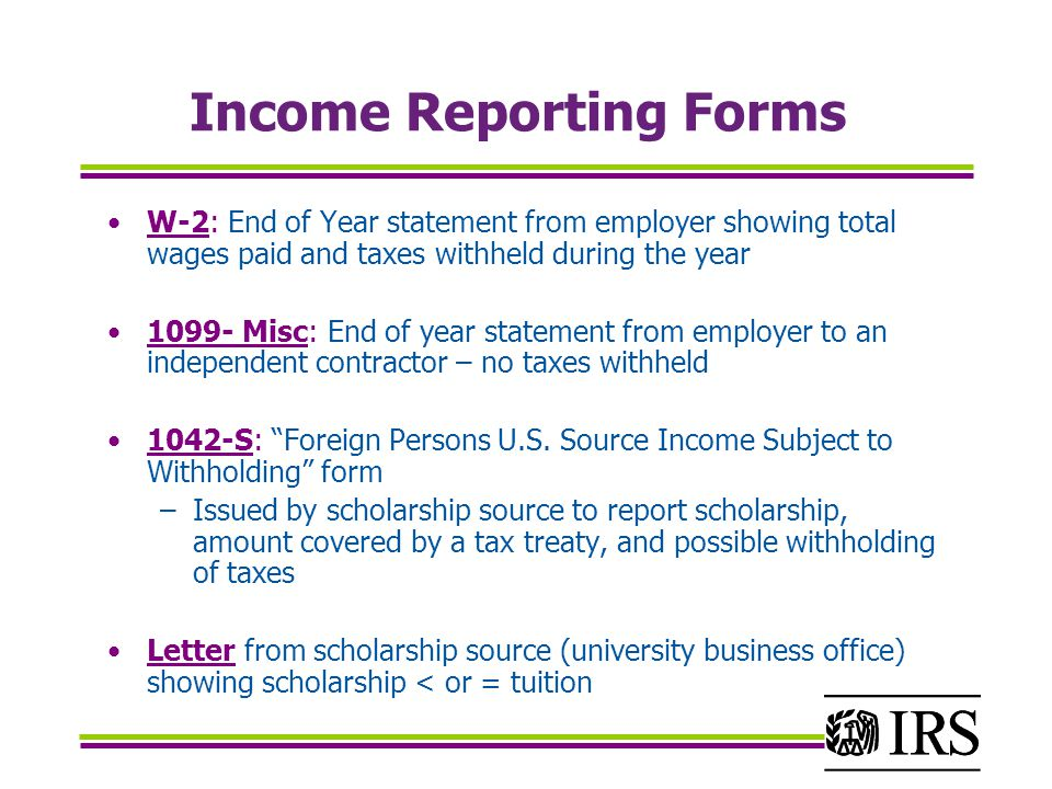 Income Reporting Forms