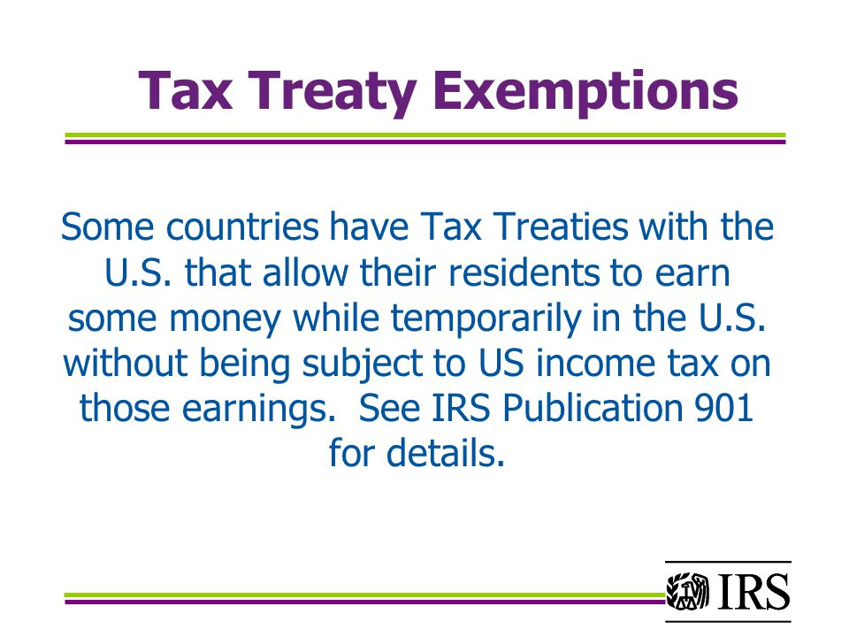 Tax Treaty Exemptions