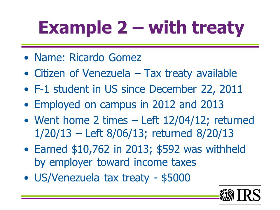 Example 2 – with treaty Name: Ricardo Gomez