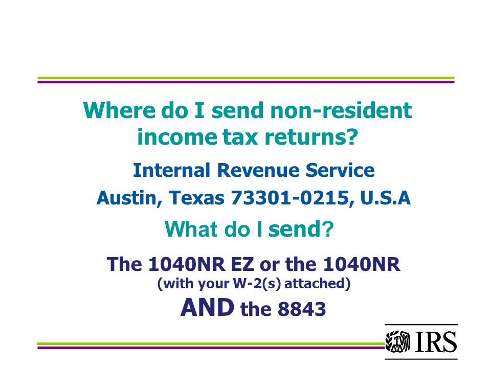 Where do I send non-resident income tax returns