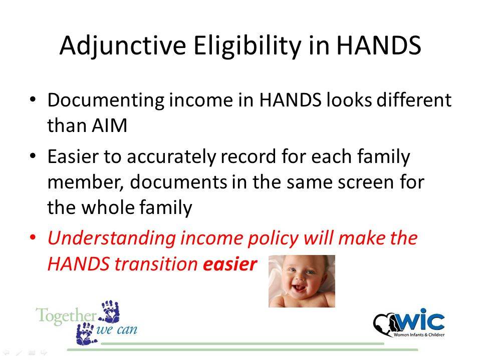 Adjunctive Eligibility in HANDS