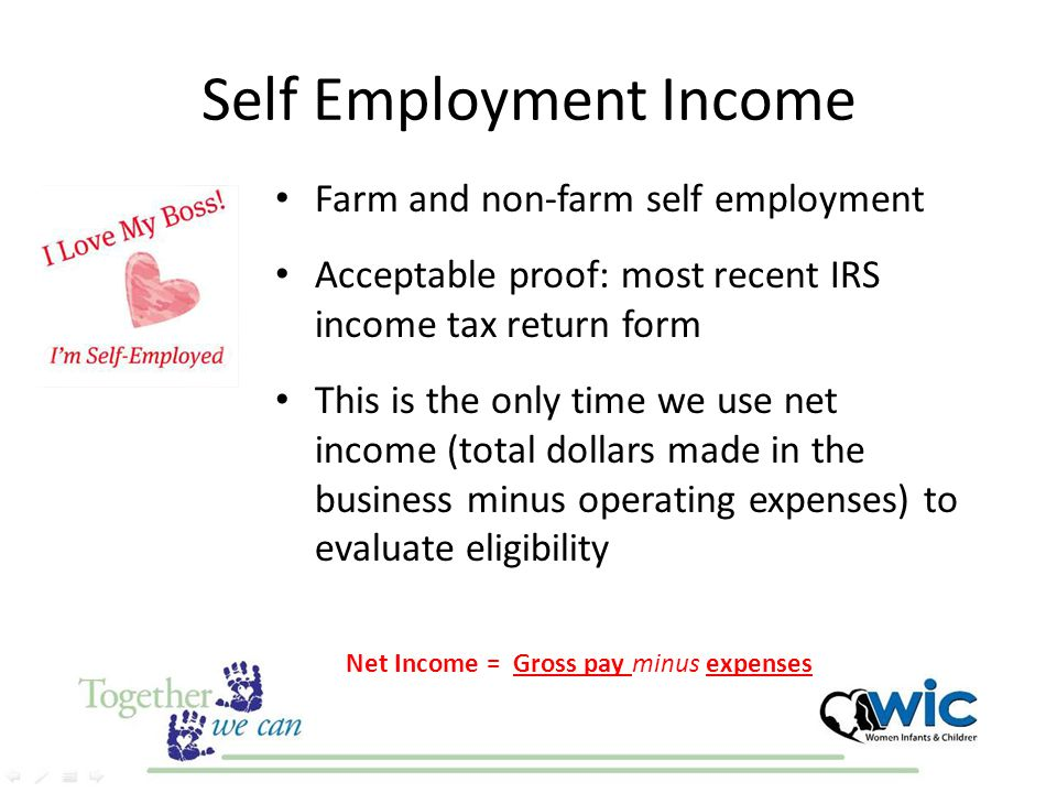 Self Employment Income