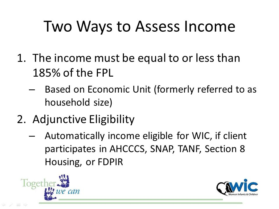Two Ways to Assess Income