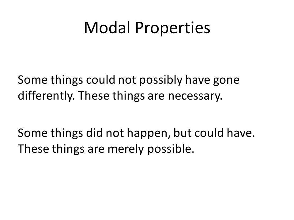 Modal Properties
