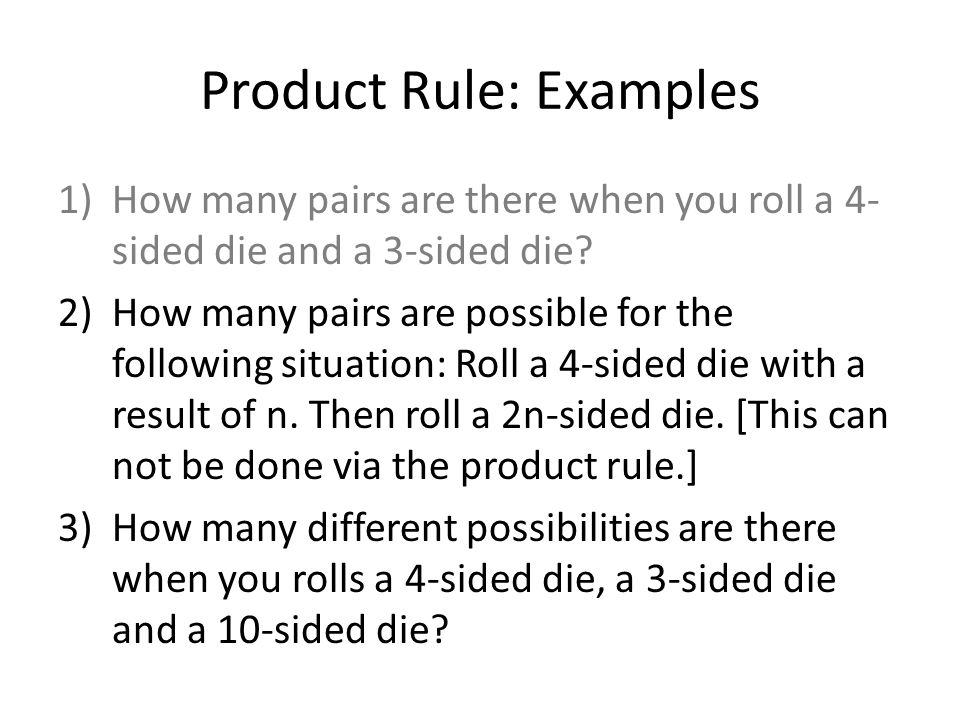 Product Rule: Examples
