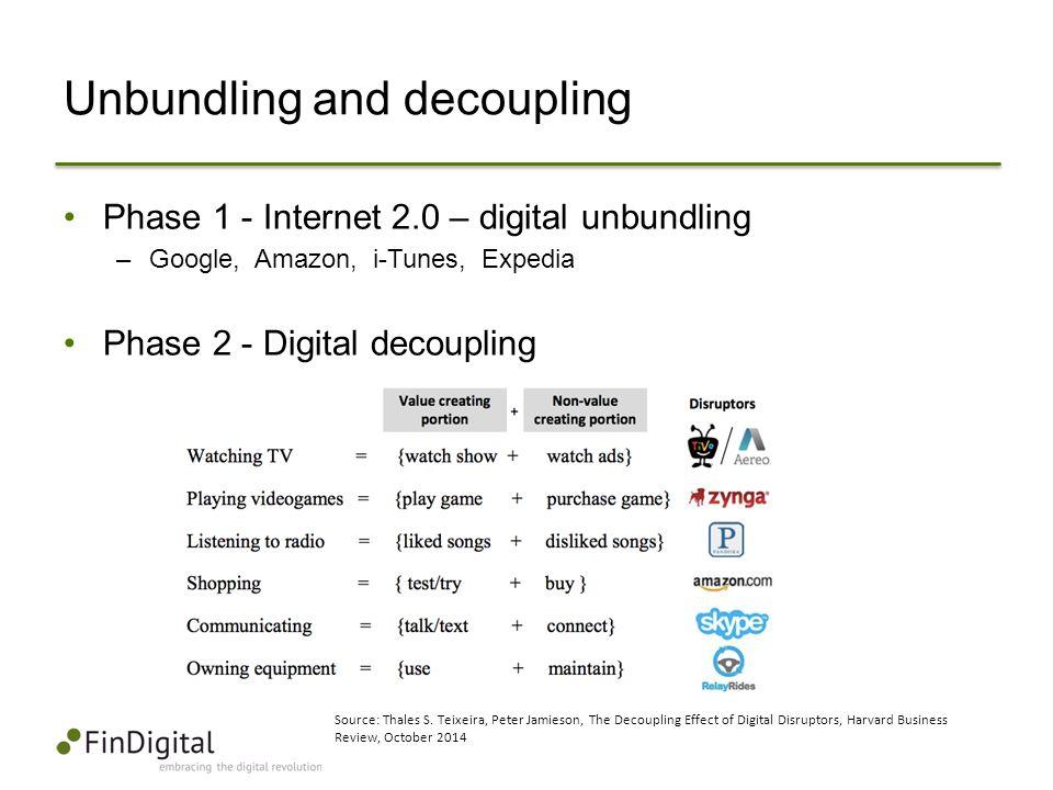Unbundling and decoupling