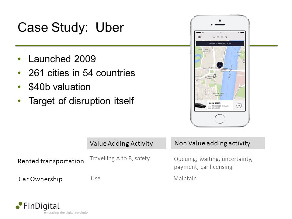 Case Study: Uber Launched 2009 261 cities in 54 countries