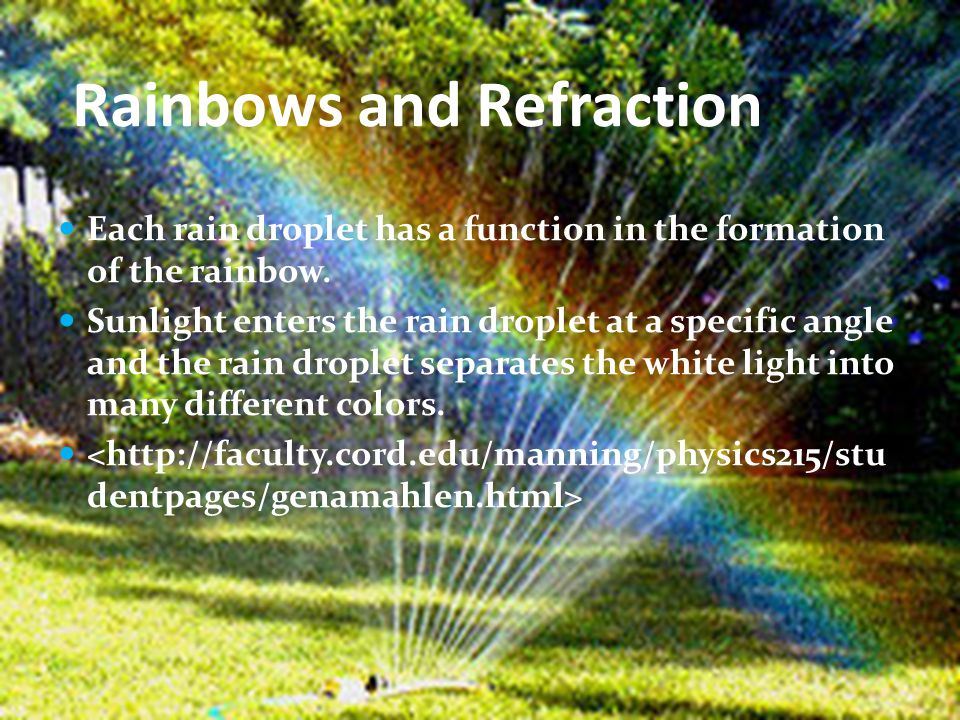 Rainbows and Refraction