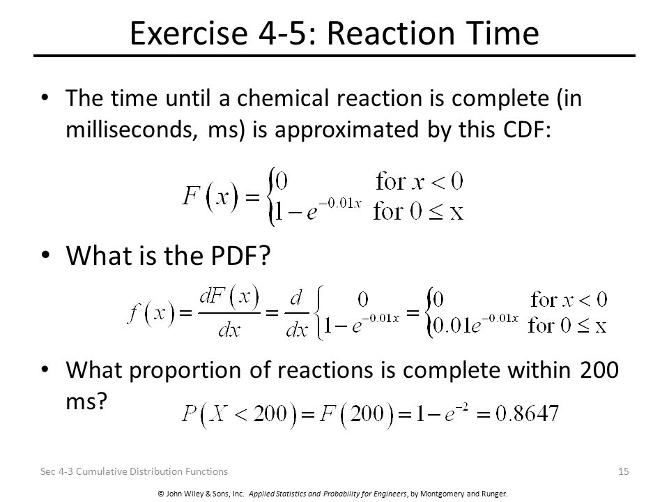 Exercise 4-5: Reaction Time