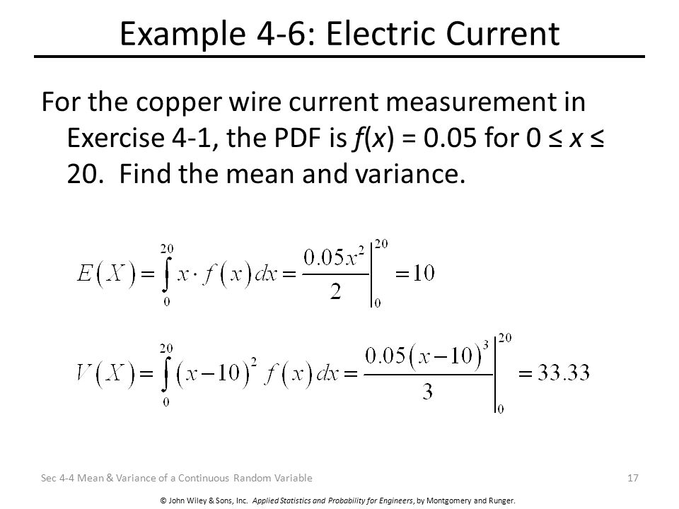 Example 4-6: Electric Current