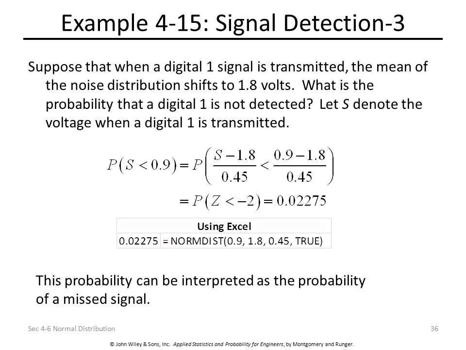 Example 4-15: Signal Detection-3