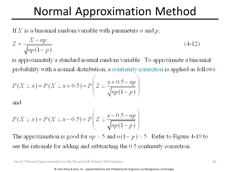 Normal Approximation Method