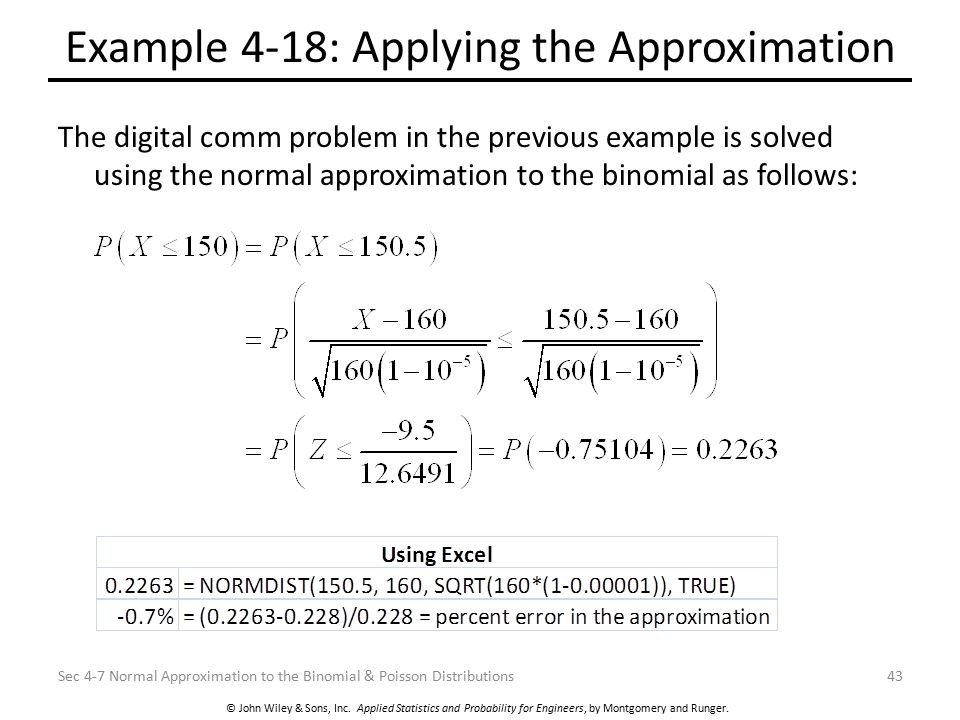 Example 4-18: Applying the Approximation