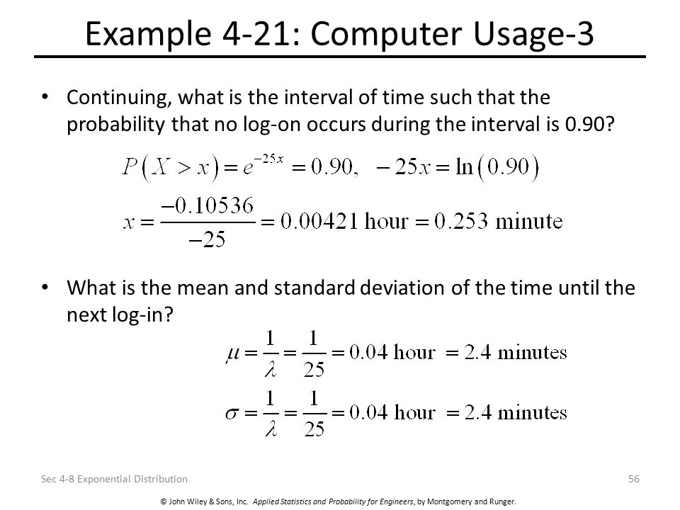 Example 4-21: Computer Usage-3