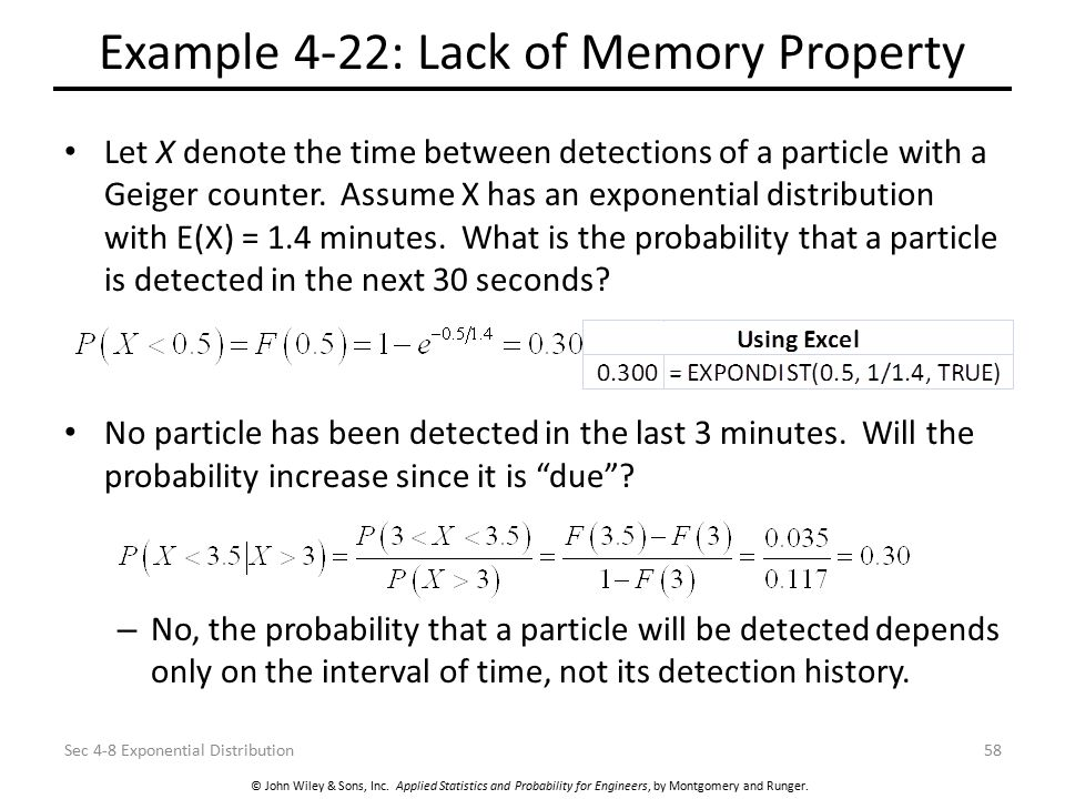 Example 4-22: Lack of Memory Property