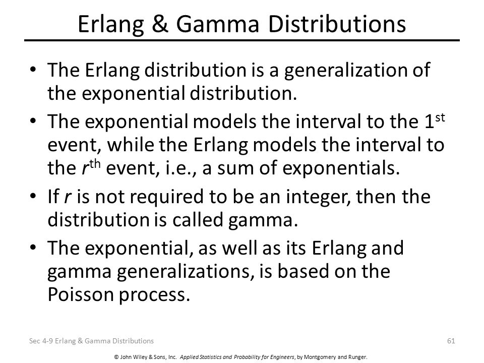 Erlang & Gamma Distributions