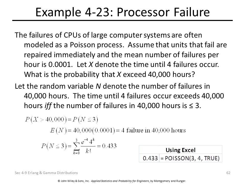 Example 4-23: Processor Failure