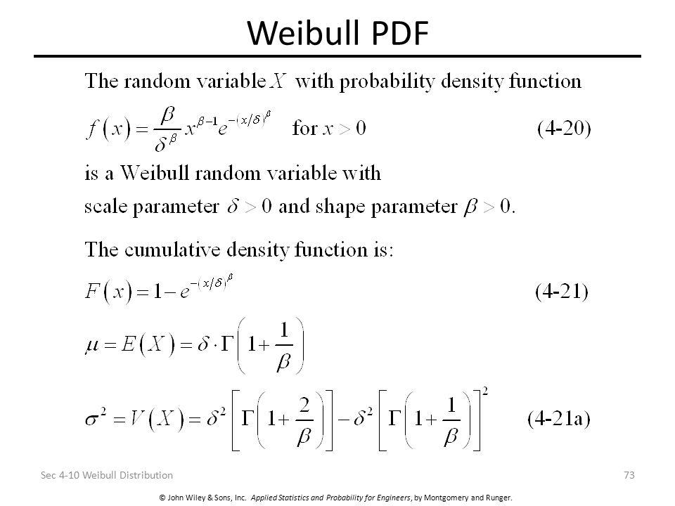 Weibull PDF Sec 4-10 Weibull Distribution