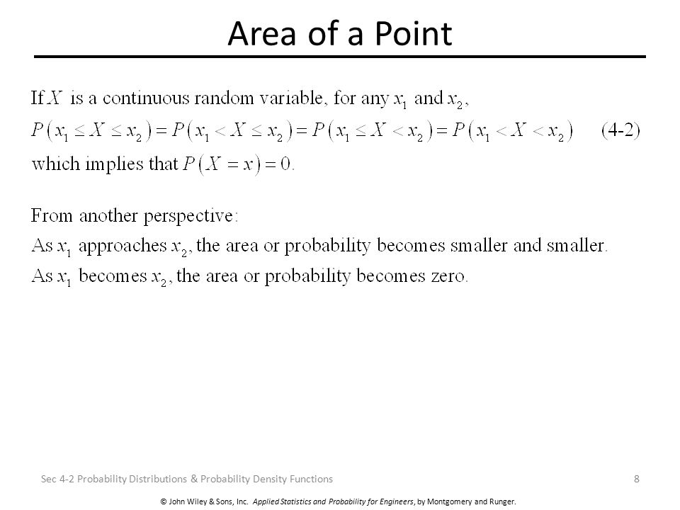 Area of a Point Sec 4-2 Probability Distributions & Probability Density Functions