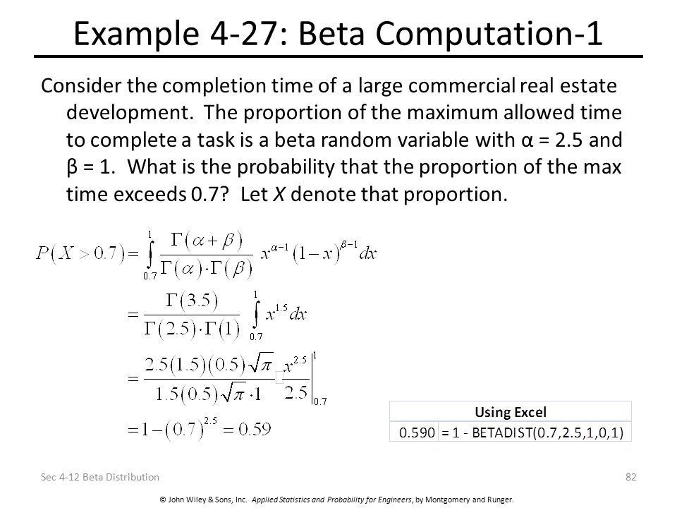 Example 4-27: Beta Computation-1