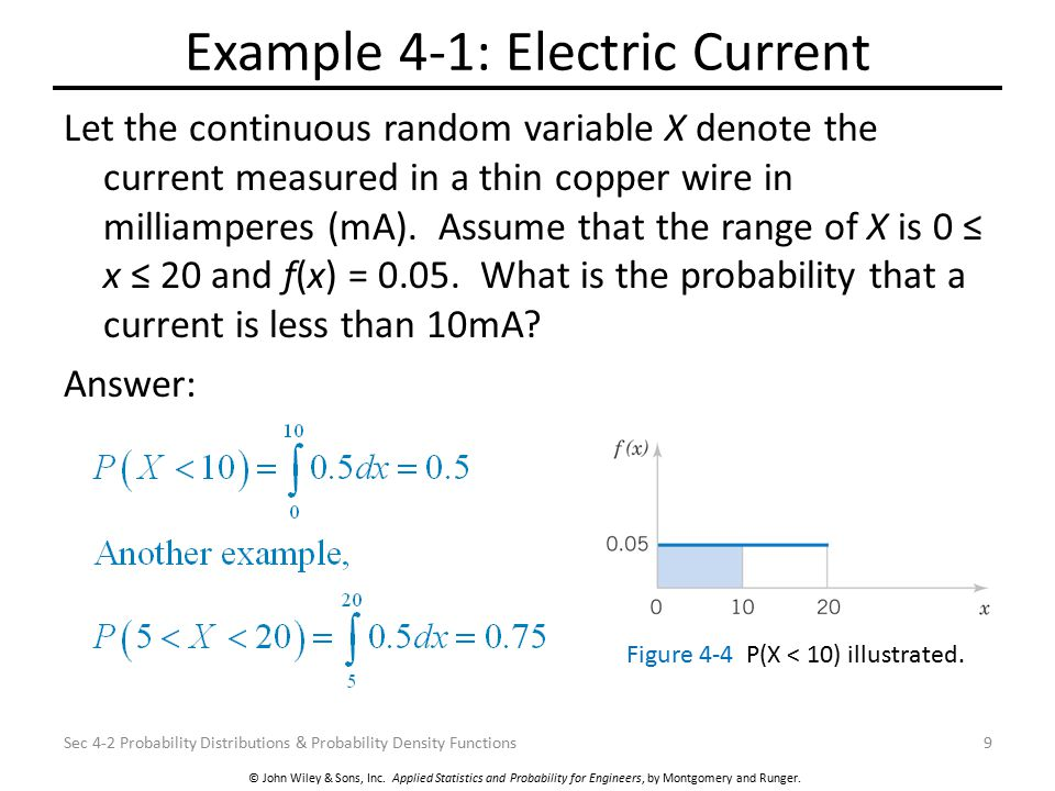 Example 4-1: Electric Current