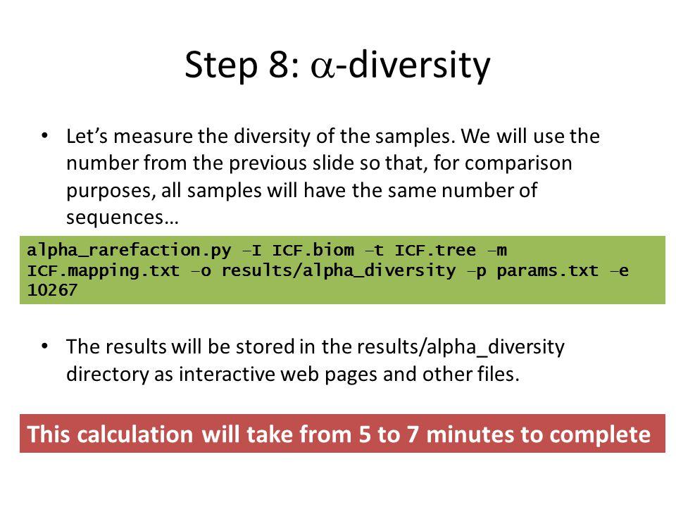 Step 8: a-diversity